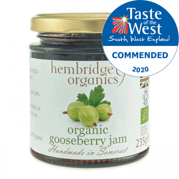 hembridge organics gooseberry jam AWARD