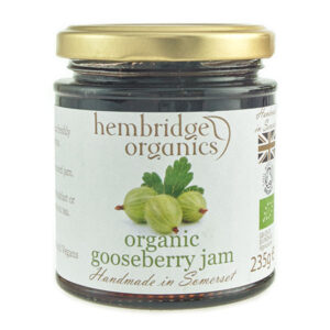 hembridge organics gooseberry jam jar