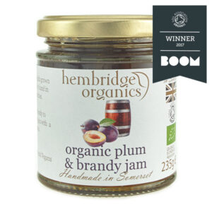 hembridge organics plumb brandy jam jar