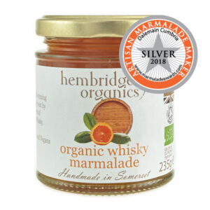 hembridge organics whisky marmalade jar